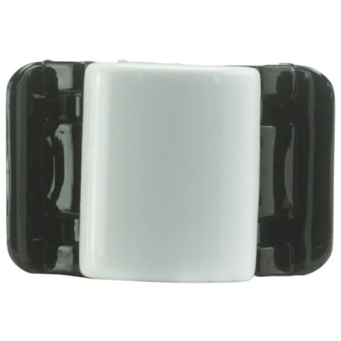 Linziclip Midi Claw Clip - Classic White And Black