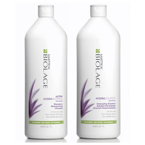 Matrix Biolage Hydrasource Shampoo And Detangling Solution Duo Pack 2 x 1l