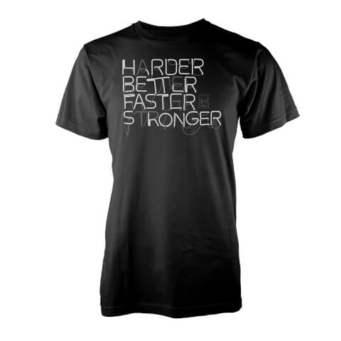 Vo Maria Harder Better Faster Stronger Men's Black T-Shirt