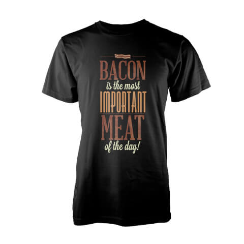 Teo Bacon Bacon Men's Black T-Shirt