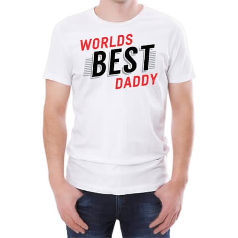 World's Best Daddy Men's White T-Shirt