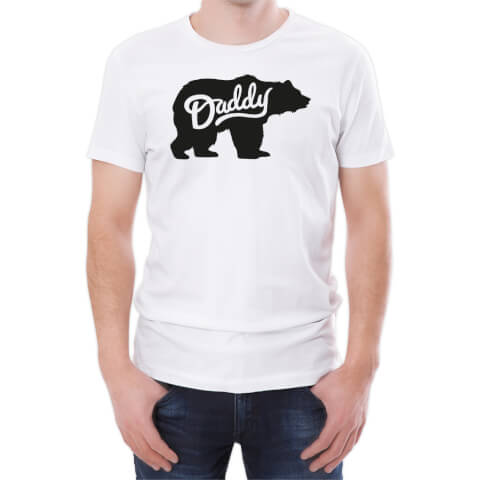 T-Shirt Homme Papa Ours/Daddy Bear -Blanc