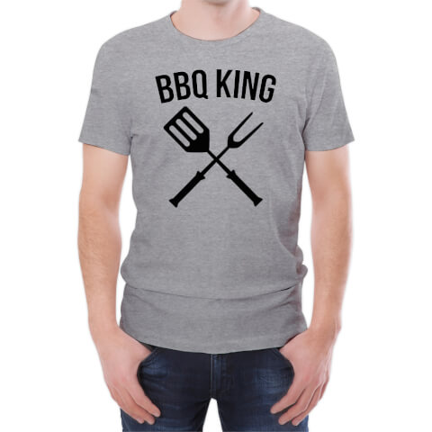T-Shirt Homme BBQ King -Gris