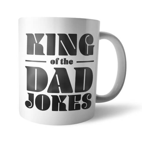 Tasse King Of The Dad Jokes -Blanc