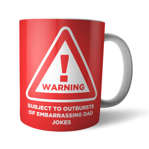 Warning Embarrassing Dad Jokes Mug