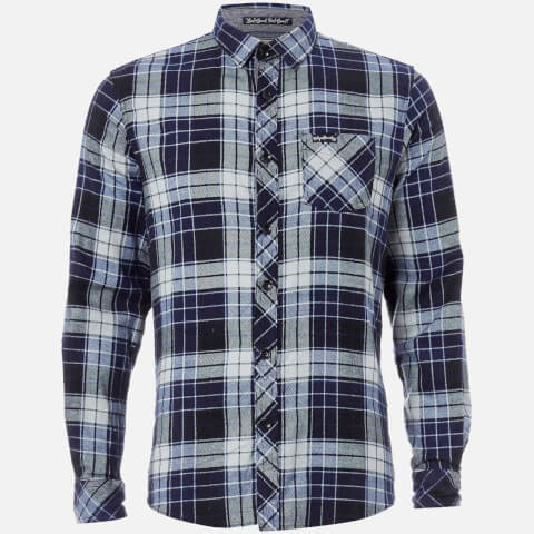 Tokyo Laundry Men's Nashville Flannel Long Sleeve Shirt - Blue Depths