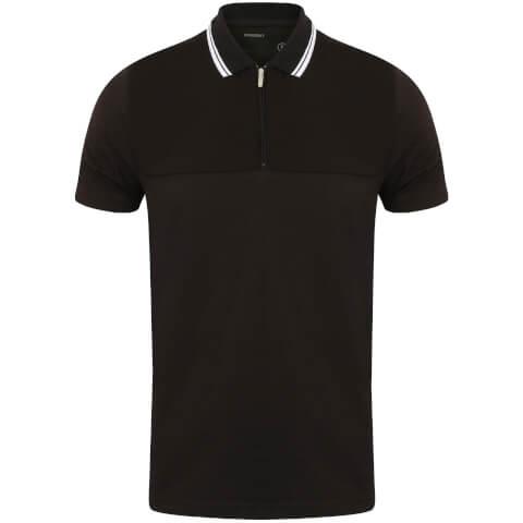 Dissident Men's Henstridge Half Panel Polo Shirt - Black