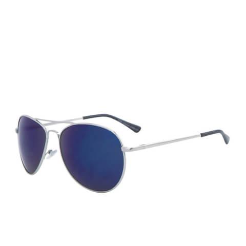 Men's Aviator Sunglasses - Silver/Blue