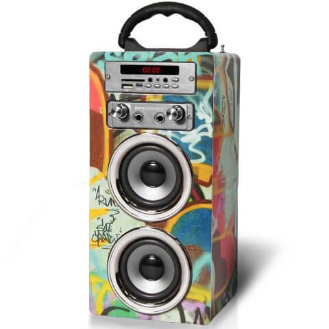 Pure Acoustics MCP-20 Bluetooth Karaoke Speaker (Including Mic) - Grafitti
