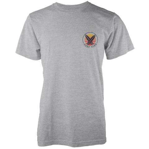 Native Shore Men's Surf Vibe Pocket Print T-Shirt - Light Grey Marl