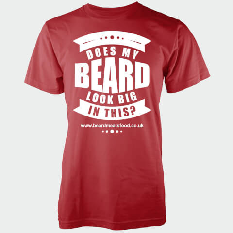 Does My Beard Look Big In This Men's Red T-Shirt