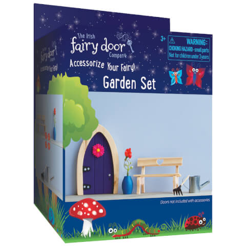 The Irish Fairy Door Company 4 Piece Garden Accessory Set