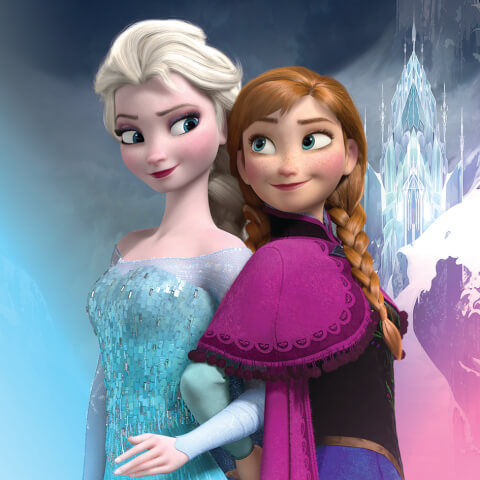 Disney Frozen Elsa and Anna 30 x 30cm Canvas Print
