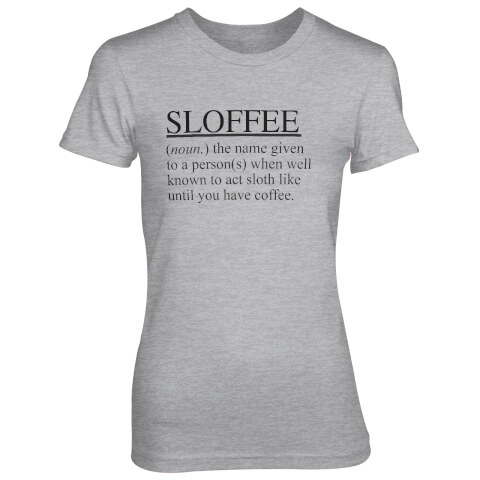 Sloffee Women's Grey T-Shirt