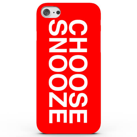 Coque iPhone & Android Choose Snooze - 4 Couleurs