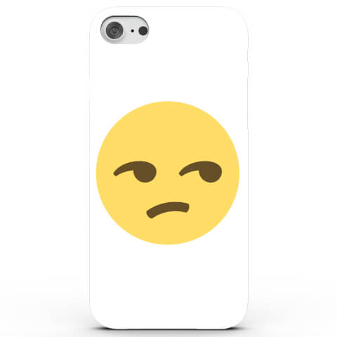 Coque iPhone & Android Emoji Dubitatif - 4 Couleurs