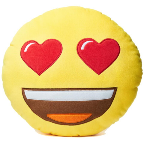 Emoji Cushion - Heart Eyes