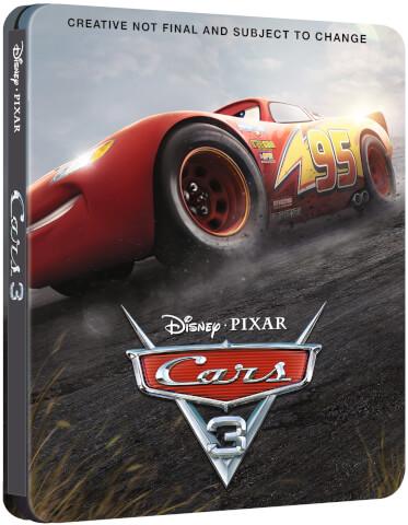 Cars 3 3D (Inclut 2D Version) - Steelbook Édition Exclusive Limitée pour Zavvi