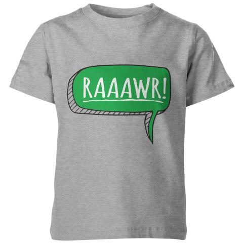 Dinosaur Rawr! Kids Grey T-Shirt
