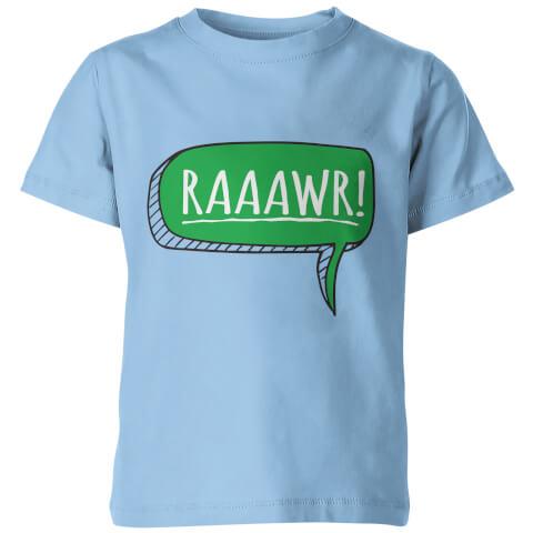 Dinosaur Rawr! Kids Light Blue T-Shirt