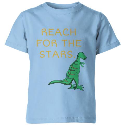 T-Shirt Enfant Reach For The Stars Dinosaure - Bleu Clair