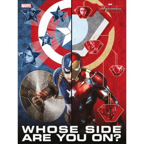 Poster en Verre Captain America Civil War - Whose Side Are You On (30 x 40cm)