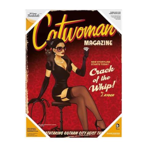 Affiche en Verre DC Comics Bombshells - Catwoman (30 x 40cm)