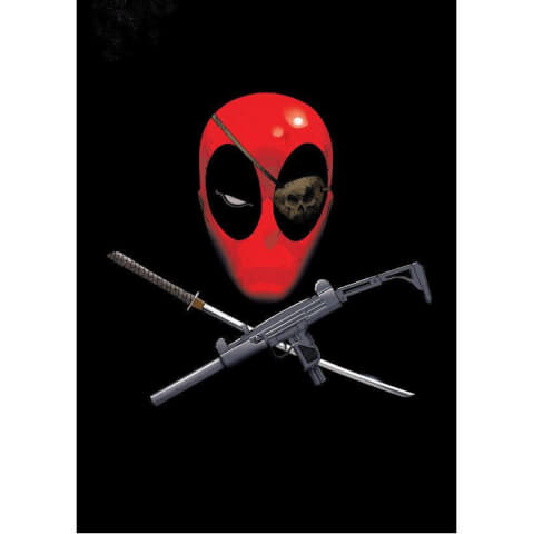 Affiche en Métal Marvel Comics Deadpool Merc with a Mouth Piratepool (68 x 48cm)