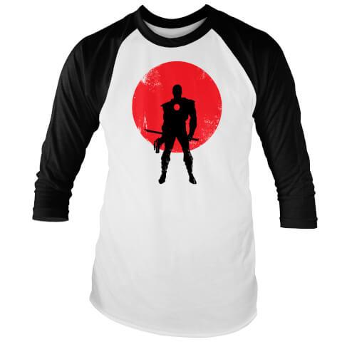 Valiant Comics Classic Bloodshot Silhouette Raglan T-Shirt - White