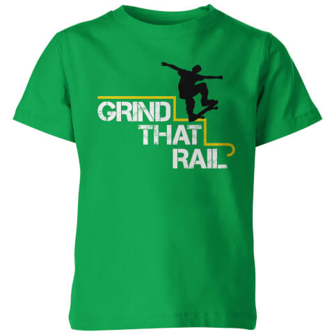 Grind that Rail Kid's Green T-Shirt