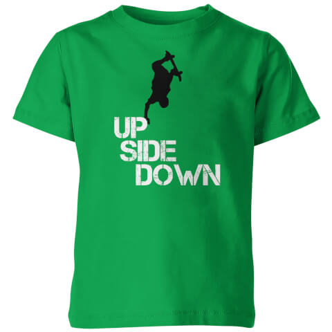 Up Side Down Kid's Green T-Shirt