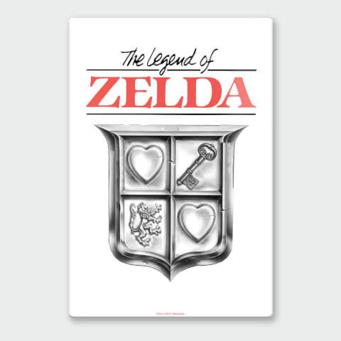 Nintendo Legend of Zelda Chromalux High Gloss Metal Poster