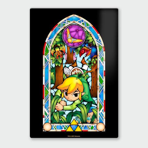 Nintendo Legend of Zelda Boomerang Chromalux High Gloss Metal Poster