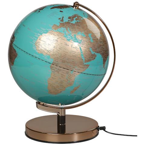 Wild Wood 10 Inch Globe Light - Metallic Copper/Azure Blue