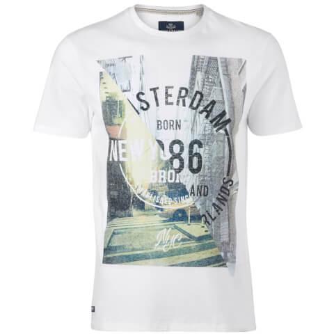 Threadbare Men's Spliced T-Shirt - White
