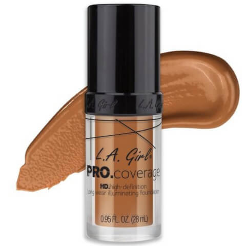 L.A. Girl Pro.Coverage HD Illuminating Foundation - Warm Caramel 28ml