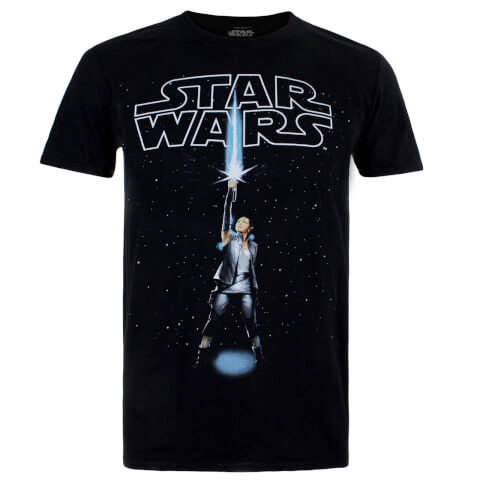 Star Wars Men's The Last Jedi Rey Logo T-Shirt - Black