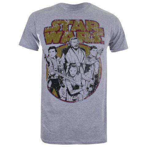 Star Wars Men's The Last Jedi Rebel Group T-Shirt - Light Grey Marl