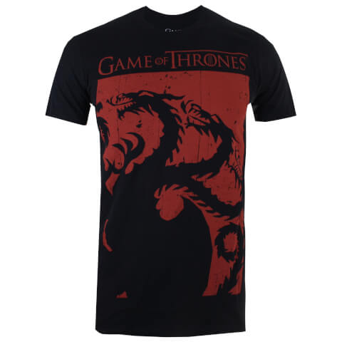 Game of Thrones Men'sTargaryen Sigil T-Shirt - Black