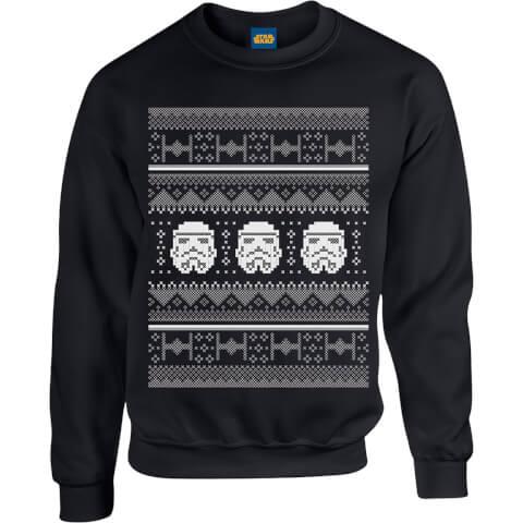 Star Wars Christmas Stormtrooper Knit Black Christmas Sweatshirt