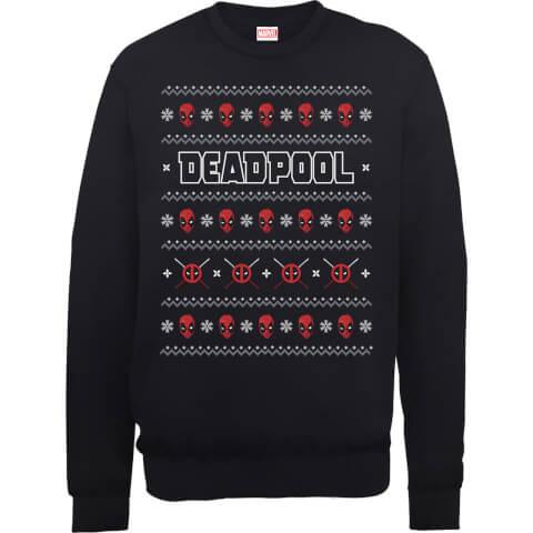 Marvel Deadpool Black Christmas Sweatshirt