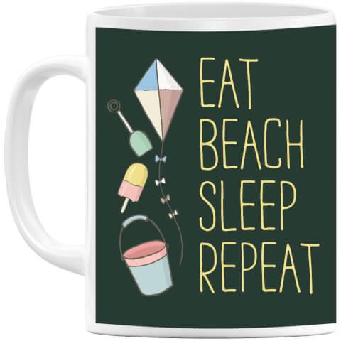 Eat Beach Sleep Repeat Mug