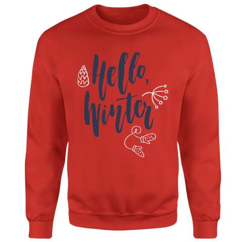 Hello Winter Sweatshirt - Red