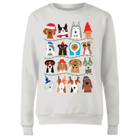 Merry Dogmas Women's Sweatshirt - White