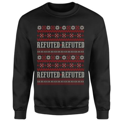 Refuted Christmas Sweatshirt - Black