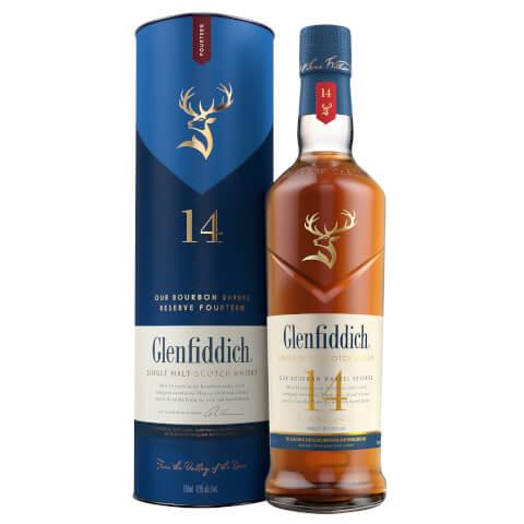 Glenfiddich 14 Year Old Bourbon Barrel Reserve Single Malt Scotch Whisky 70cl
