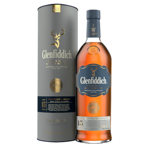 Glenfiddich Distillery Edition 15 Year Old Single Malt Scotch Whisky 1L