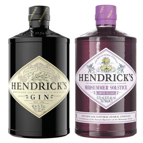 Hendrick's Gin Duo – Hendrick's Original and Limited Edition Hendrick's Midsummer Solstice Gin