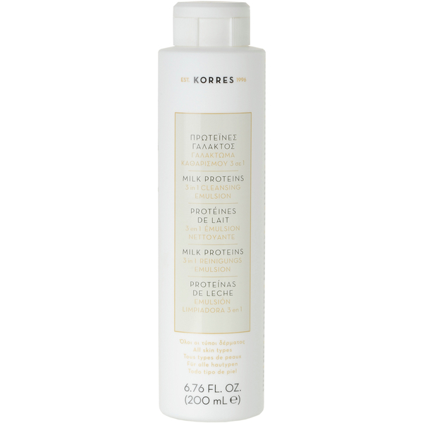 KORRES Milk Proteins 3 In 1 Cleanser, Toner & Eye Makeup Remover (200 ml)