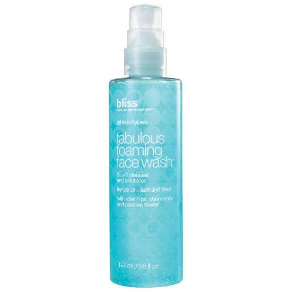 Bliss fabulous foaming face wash